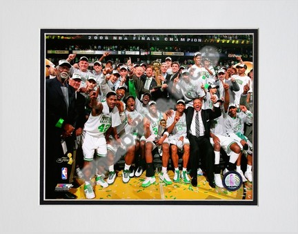 "Image of 2007-2008 Boston Celtics NBA Finals Champions Celebration; #29 Double Matted 8"" x 10"" Photograph (Unframed)"
