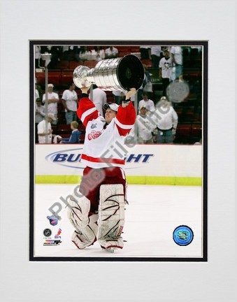 """Chris Osgood with the Stanley Cup, Game 6 of the 2008 NHL Stanley Cup Finals; #30"""""""" Double Matted 8� x 10� Photograph (Unframed)"""" PHF-AAJX204-33"""