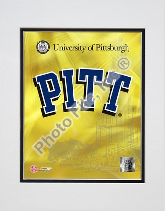 """University of Pittsburgh Panthers 2008 Logo Double Matted 8"""" x 10"""" Photograph (Unframed)"""