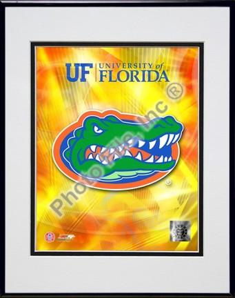 "University of Florida Gators 2008 Logo Double Matted 8"" x 10"" Photograph in Black Anodized Aluminum Frame"