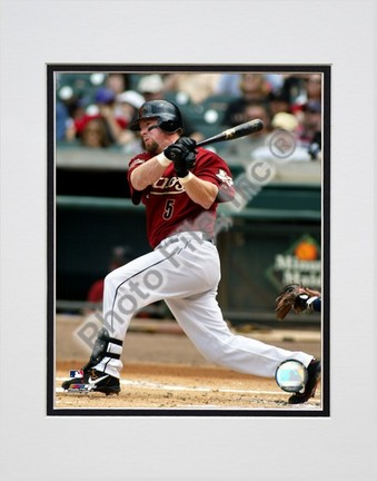 """Jeff Bagwell """"Batting Action"""" Double Matted 8"""" x 10"""" Photograph (Unframed)"""