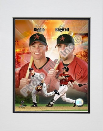 "Craig Biggio and Jeff Bagwell Portrait Plus, 1999 Double Matted 8"" x 10"" Photograph (Unframed)"