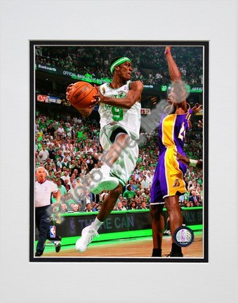 """Rajon Rondo, Game Six of the 2008 NBA Finals; Action #25 Double Matted 8"""" x 10"""" Photograph (Unframed)"""