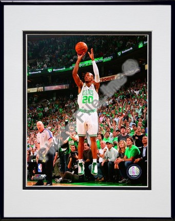 "Ray Allen, Game Six of the 2008 NBA Finals; Action #24 Double Matted 8"" x 10"" Photograph in Black Anodized Aluminum"