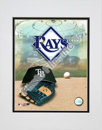 2008 Tampa Bay Rays Team Logo Double Matted 8� x 10� Photograph (Unframed) PHF-AAKA018-33
