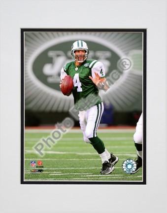 """Brett Favre """"2008 Passing Action Vertical"""" Double Matted 8"""" x 10"""" Photograph (Unframed)"""