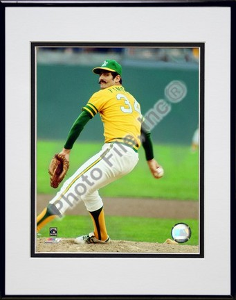 """Rollie Fingers """"Action"""" Double Matted 8"""" x 10"""" Photograph in Black Anodized Aluminum Frame"""