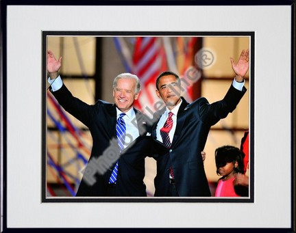 "Democratic Presidential candidate Barack Obama & Vice Presidential candidate Joe Biden Double Matted 8"" x 10"" Ph"