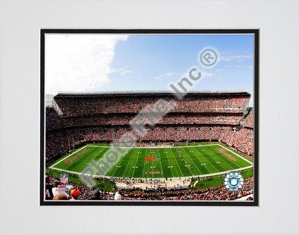 """Cleveland Browns Stadium 2008 Double Matted 8"""" x 10"""" Photograph (Unframed)"""
