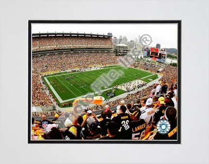 "Heinz Field 2008 Double Matted 8"" x 10"" Photograph (Unframed)"