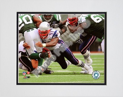 """Ellis Hobbs (New England Patriots) """"2008 Action"""" Double Matted 8"""" x 10"""" Photograph (Unframed)"""