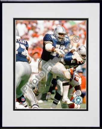 "Ed ""Too Tall"" Jones ""Action"" Double Matted 8"" x 10"" Photograph in Black Anodized Aluminum Frame"