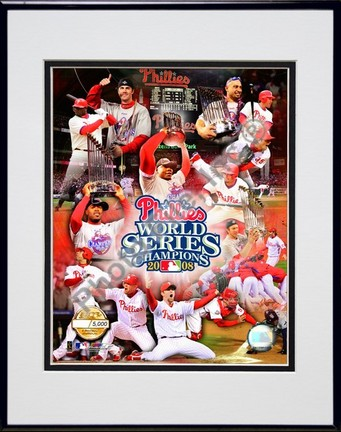 "Philadelphia Phillies ""2008 World Series Champions on Field Composite"" Double Matted 8"" x 10"" Photog"