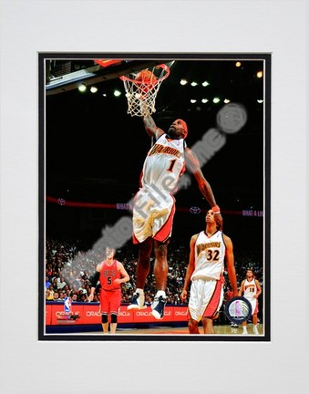 "Stephen Jackson ""2008 - 2009 Action - White Jersey"" Double Matted 8"" x 10"" Photograph (Unframed)"