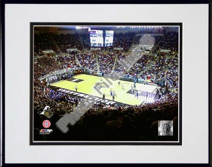 """Purdue Boilermakers 2007 """"Mackey Arena"""" Double Matted 8"""" x 10"""" Photograph in Black Anodized Aluminum Frame"""
