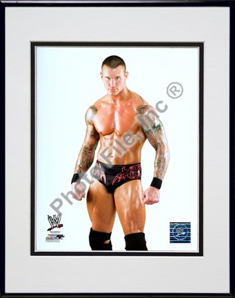 "Randy Orton #515 Double Matted 8"" x 10"" Photograph in Black Anodized Aluminum Frame"