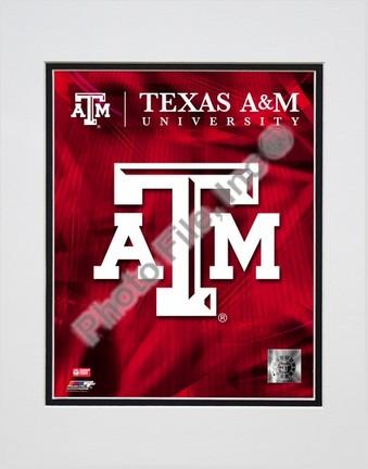 "2008 Texas A&M Aggies Team Logo Double Matted 8"" x 10"" Photograph (Unframed)"