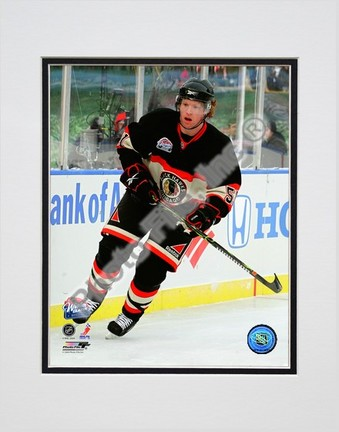 "Brian Campbell ""2008 - 2009 NHL Winter Classic Action"" Double Matted 8"" x 10"" Photograph (Unframed)"
