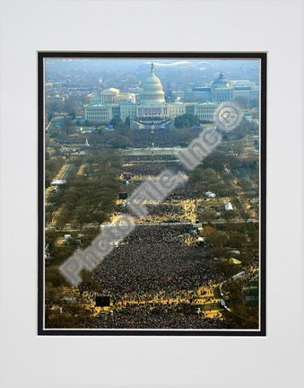 "Barack Obama ""2009 Inaugural Address (#96)"" Double Matted 8"" x 10"" Photograph (Unframed)"