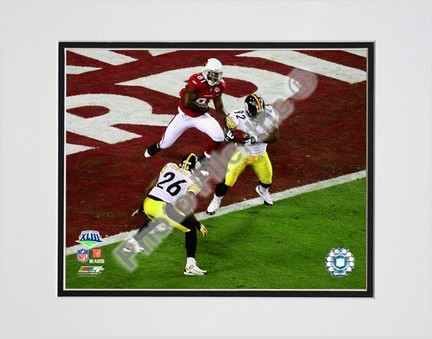 "James Harrison """"Interception Super Bowl XLIII (#4)"""" Double Matted 8"""" x 10"""" Photograph (Unframed)"" PHF-AAKW017-33"