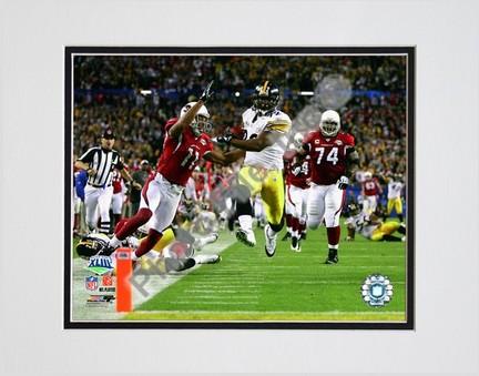 "James Harrison ""Touchdown Super Bowl XLIII (#5)"" Double Matted 8"" x 10"" Photograph (Unframed)"