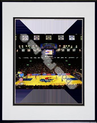 """Allen Fieldhouse """"Kansas Jayhawks 2009"""" Double Matted 8"""" x 10"""" Photograph (Unframed)"""