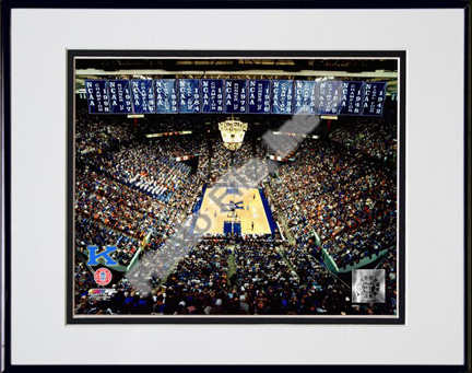 """Rupp Arena """"Kentucky Wildcats 2002"""" Double Matted 8"""" x 10"""" Photograph in Black Anodized Aluminum Frame"""