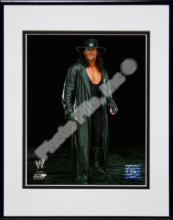 "The Undertaker #531 Double Matted 8"" x 10"" Photograph in Black Anodized Aluminum Frame"