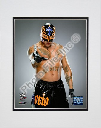 "Rey Mysterio #534 Double Matted 8"" x 10"" Photograph (Unframed)"