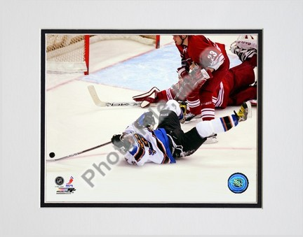 """Alex Ovechkin 2006-2007 """"The Goal"""" Double Matted 8"""" x 10"""" Photograph (Unframed)"""