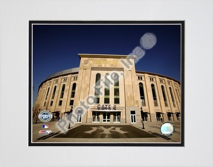 "Yankee Stadium 2009 Exterior Double Matted 8"" x 10"" Photograph (Unframed)"
