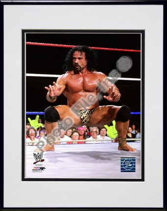 "Jimmy ""Superfly"" Snuka #553 Double Matted 8"" x 10"" Photograph in Black Anodized Aluminum Frame"