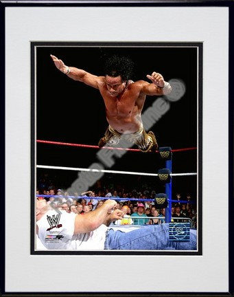 """Jimmy """"Superfly"""" Snuka #552 Double Matted 8"""" x 10"""" Photograph in Black Anodized Aluminum Frame"""
