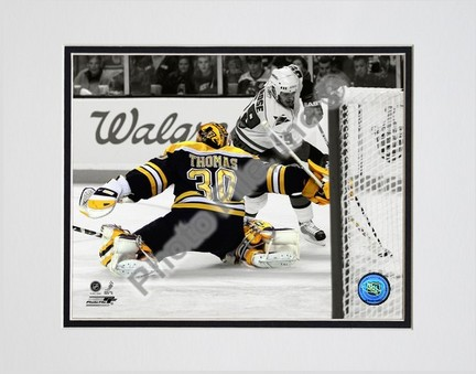 Tim Thomas Spotlight Collection Double Matted 8� x 10� Photograph (Unframed) PHF-AALH115-33