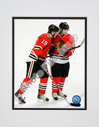 "Jonathan Toews and Patrick Kane """"2009 Playoffs"""" Double Matted 8"""" x 10"""" Photograph (Unframed)"" PHF-AALI174-33"