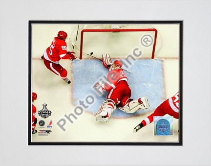 "Chris Osgood """"2009 Stanley Cup / Game 1 (#6)"""" Double Matted 8"""" x 10"""" Photograph (Unframed)"" PHF-AALJ139-33"