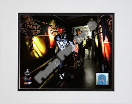 "Sidney Crosby and Evgeni Malkin """"2009 Stanley Cup / Game 4 (#17)"""" Double Matted 8"""" x 10"""" Photograph (Unframed)"" PHF-AALJ235-33"