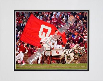 "Sooner Schooner Mascot Oklahoma Sooners 2007 Double Matted 8"" x 10"" Photograph (Unframed)"