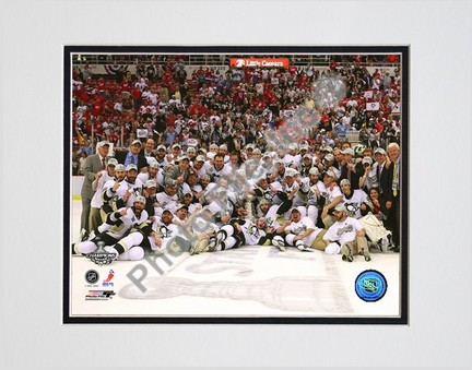 "Pittsburgh Penguins """"Game 7 of the 2008 - 2009 NHL Stanley Cup Finals Celebration on Ice"""" Double Matted 8"""" x 10"""" Photograph (Unframed)"" PHF-AALK051-33"