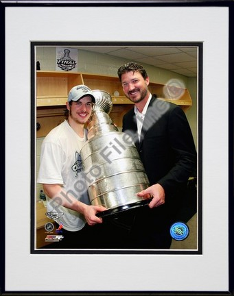 """Sidney Crosby and Mario Lemieux """"Game 7 of the 2008 - 2009 NHL Stanley Cup Finals with Trophy (#50)"""" Double Ma"""