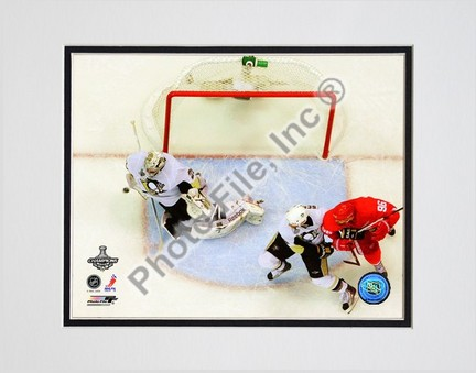"""Marc-Andre Fleury """"Game 7 of the 2008 - 2009 NHL Stanley Cup Finals Action (#51)"""" Double Matted 8"""" x 10&q"""