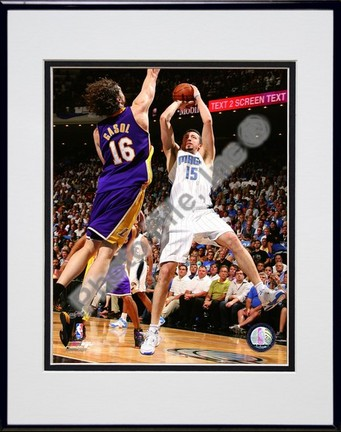 """Hedo Turkoglu """"2009 NBA Finals / Game 3 (#10)"""" Double Matted 8"""" x 10"""" Photograph in Black Anodized A"""