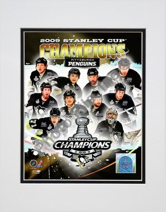 "Pittsburgh Penguins """"2008 - 2009 Stanley Cup Champions Composite"""" Double Matted 8"""" x 10"""" Photograph (Unframed)"" PHF-AALK107-33"