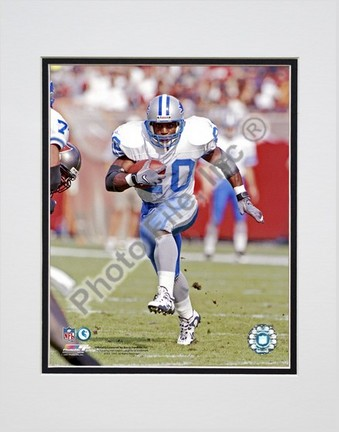 "Barry Sanders Action Double Matted 8"" x 10"" Photograph (Unframed)"