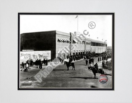 """Fenway Park 1912 Double Matted 8"""" x 10"""" Photograph (Unframed)"""