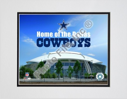 """Cowboys Stadium with overlay 2009 Double Matted 8"""" x 10"""" Photograph (Unframed)"""