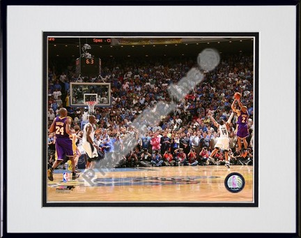 "Derek Fisher ""2009 NBA Finals / Game 4 (#17)"" Double Matted 8"" x 10"" Photograph in Black Anodized Al"