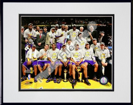 "Los Angeles Lakers ""Celebrate Game Five of the 2009 NBA Finals"" Double Matted 8"" x 10"" Photograph in"