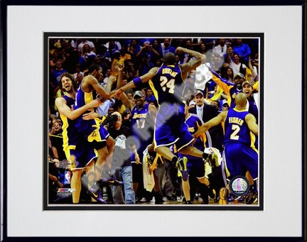 "Los Angeles Lakers ""Celebrate Game Five of the 2009 NBA Finals (#23)"" Double Matted 8"" x 10"" Photogr"