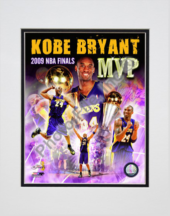 "Kobe Bryant ""2009 Finals MVP Comp. #34"" Double Matted 8"" x 10"" Photograph (Unframed)"